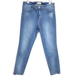 Ann Taylor Modern Skinny Split Ankle Jean